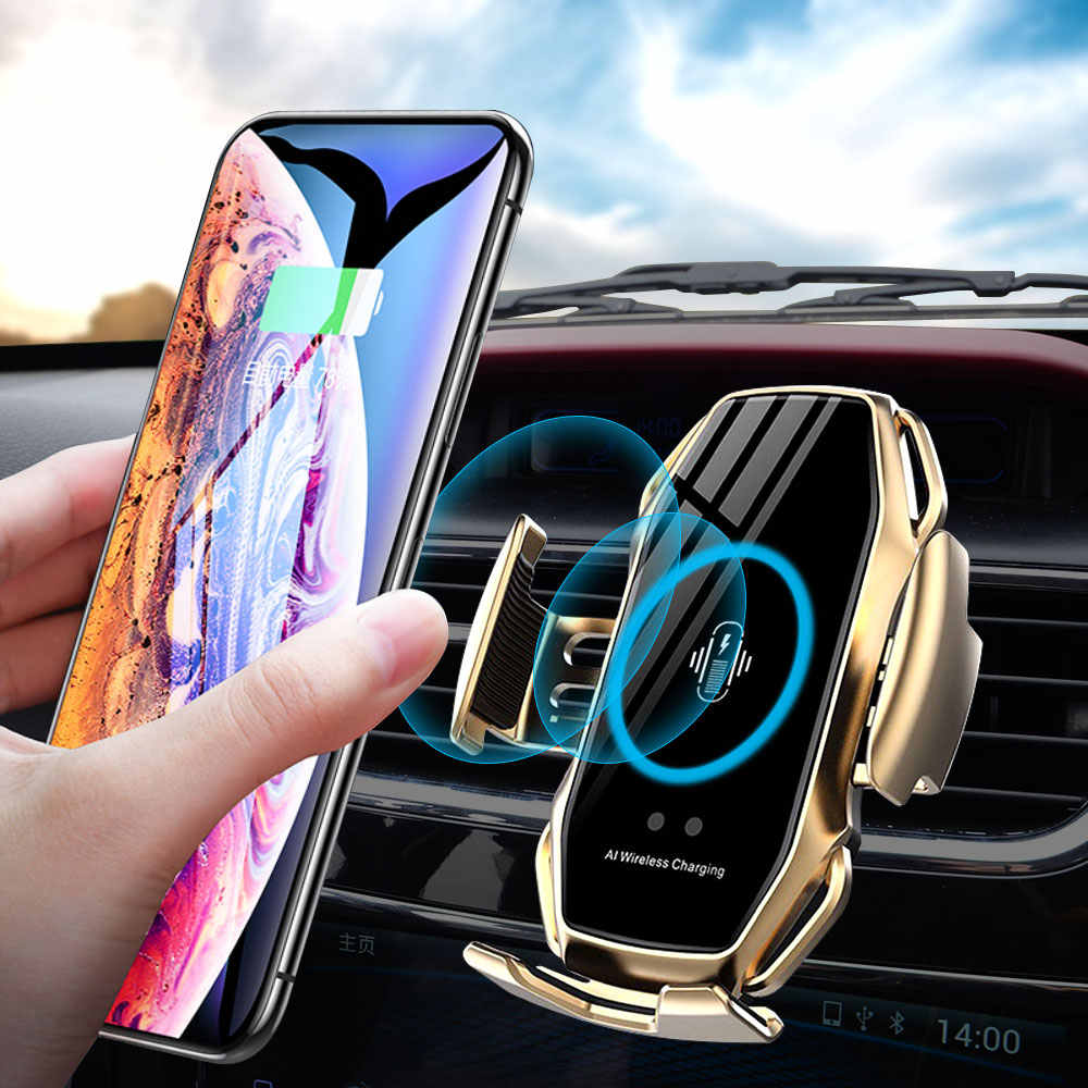 10W Automatic Clamping Wireless Charger Car Phone Holder For Samsaung Fast Wireless Charging For iPhone X 8 Qi Wireless Charger| | - AliExpress