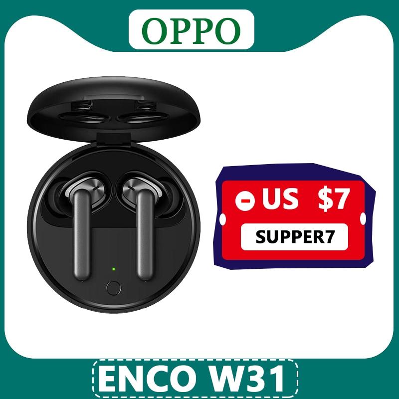 Наушники OPPO Enco W31 TWS, Bluetooth 5,0, низкая задержка, истинные беспроводные наушники 25 мАч IPX4 для Find X2 Pro RENO ACE 2 3