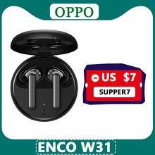 OPPO Enco W31 TWS słuchawki Bluetooth 5.0 krótki czas oczekiwania prawdziwe bezprzewodowe słuchawki 25mAh IPX4 do znalezienia X2 X2 Pro RENO ACE 2 3