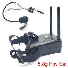 5.8G 48CH VR005 2.7 אינץ 960*240 FPV משקפי עם 25/100/200mW משדר משגר + Fpv מיני פרפר מצלמה עבור FPV מזלט