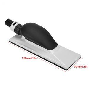 Image 5 - 1Pcs Schleif Block Hand Staub Extraktion Schleif Schwamm Block 20x7cm Staub Kostenloser Block Holzbearbeitung Schleifen Schleifstein polieren Pad