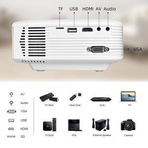 Image 5 - سالانج E400S ليد ميني بروجكتور ، فيلم بروجيكتور للهاتف الذكي ، لاسلكي أو مرآة USB لهاتف آيفون أندرويد ، واي فاي محمول بيمر مع HDMI VGA AV