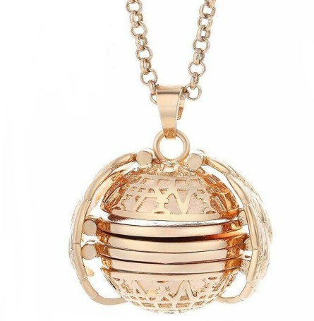 K-STAR Aromatherapy Pendant New Creative Openable Necklace Multi-layer Photo Openable Item Box image