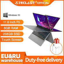 Teclast F5 ordinateur portable Windows 8GB RAM 256GB SSD Intel Gemini Lake N4100 1920*1080 Charge rapide 360 rotatif écran tactile ordinateur portable(China)