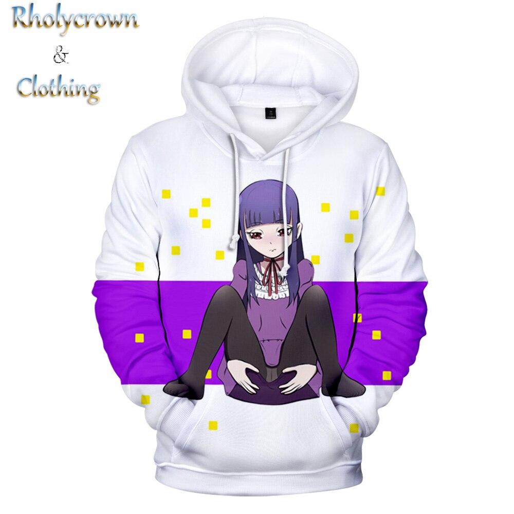 New 3D Printed High Score Girl Anime Hooded Sweatshirt Ladies Kids 3D Hoodies Fashion Boys Hip Hop Street Wear Pullover Tops