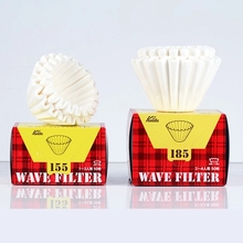 Kalita Wave Paper Filter 50 Sheets Pour Over Coffee Filter 155# for 1 To 2 Cups/185# for 2-4 Cupsr 50p Hand Brew Paper Filters