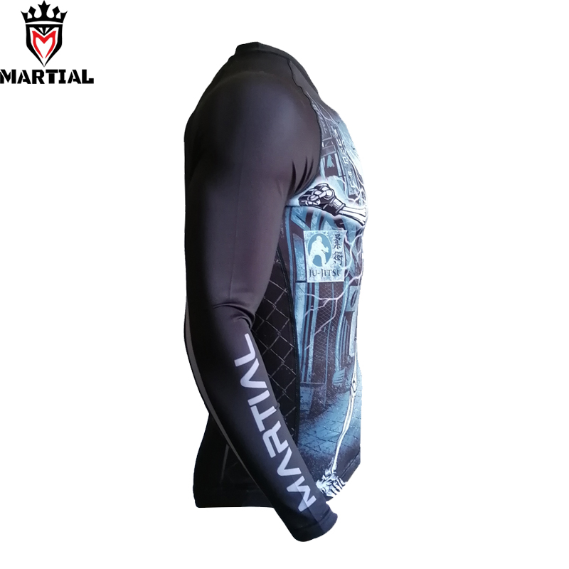 Martial: 2020 NEW ARRIVAL FIGHT VILLAGE Rashguard Sublimated BJJ  Gym Shirts MMA Crossfit Shirts Short Sleeve Sport Top