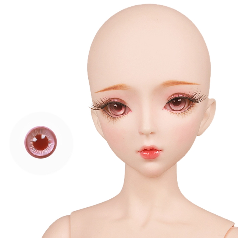 For Bjd Eyeball 14mm Glass Material Green Blue Eyes Suitable For 1/3 1/4 Doll Accessories 24