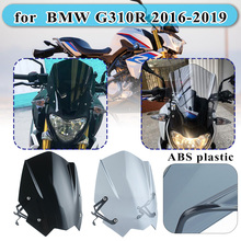 for BMW G310R G 310 R 2016 2017 2018 2019 Motorcycle Windshield Windscreen Shield Screen with Mounting bracket High Quality ABS for bmw g310r 2017 on motorcycle windshield windscreen with mounting bracket high quality abs plastic
