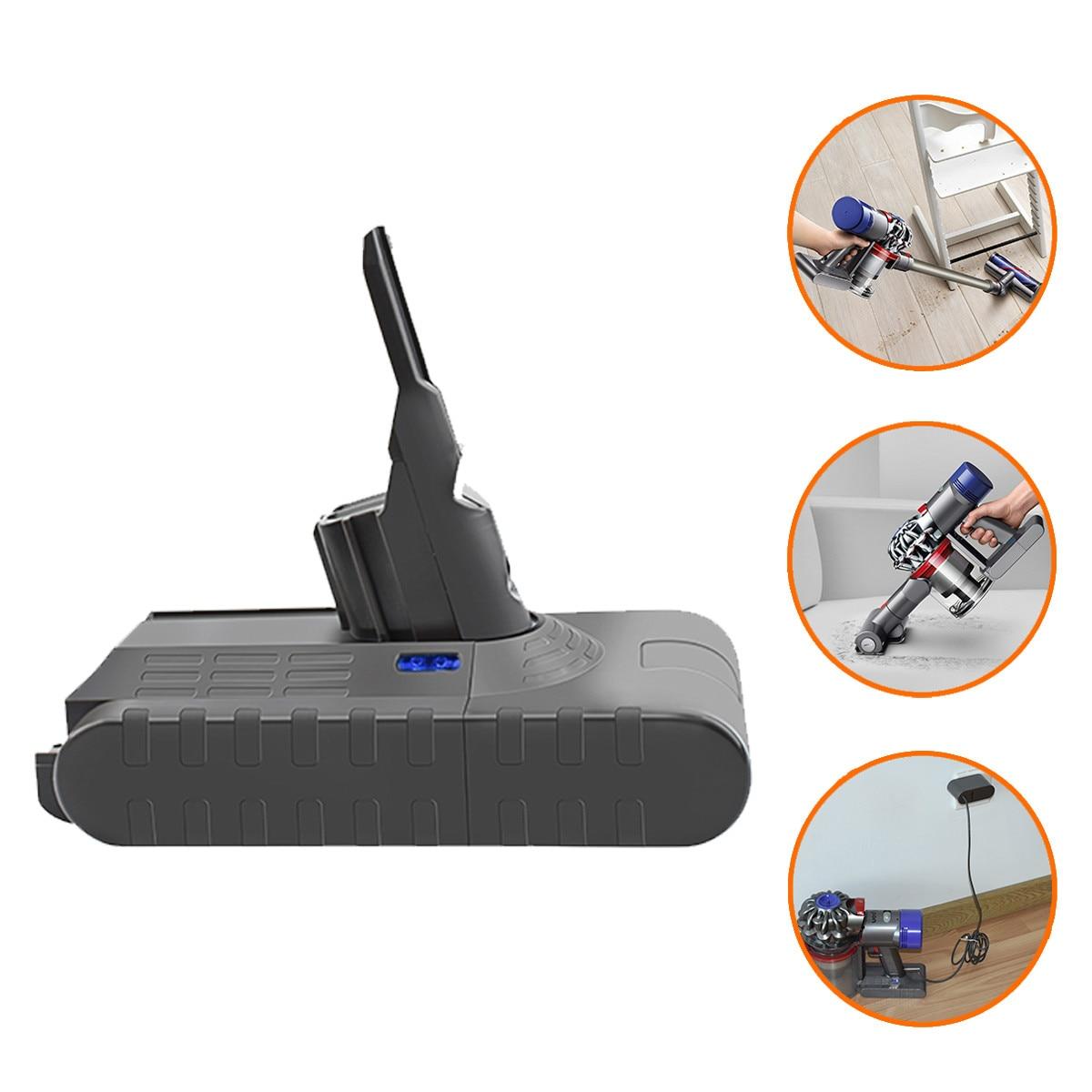 Bonadget 4000mAh 21.6V 18650 Li-ion Battery For Dyson V8 Battery Handheld Vacuum Cleaner Rechargeable Power Tools Battery