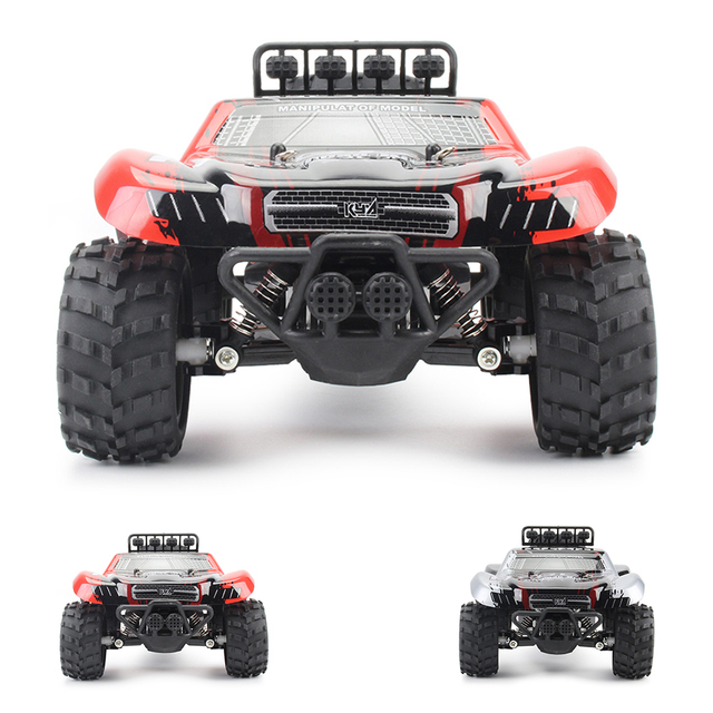 1:18 48KM/H 2.4G Machines Remote Control Model Vehicle Kids Electric RC Car Gift Climbing Big Tire Off Road Truck High Speed 5