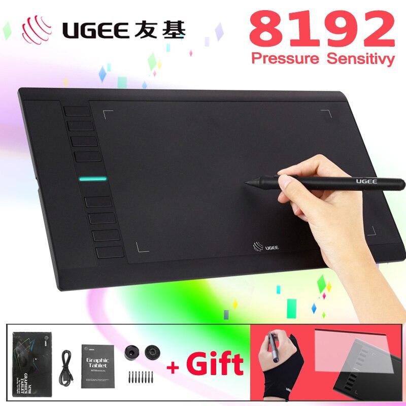 UGEE M708 8192 уровней 10x6 дюймов планшет для рисования цифровой планшет умный графический планшет ручка для рисования для письма живопись профес...