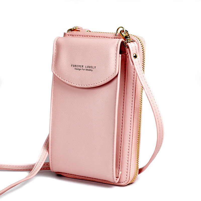 New Ladies Long Clutch Totes Large Capacity Mobile Phone Bag Coin Pursewomen Zipper Shoulder Crossbody Bag