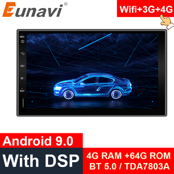 цена на Eunavi Double 2 Din 7'' Android 9.0 Universal Car Radio Stereo GPS Navigation In Dash Video WIFI 2din BT touch screen DSP IPS