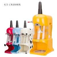 Triturador de gelo automático floco de neve raspado máquina de gelo elétrico bloco de gelo triturador comercial máquina de esmagamento de gelo