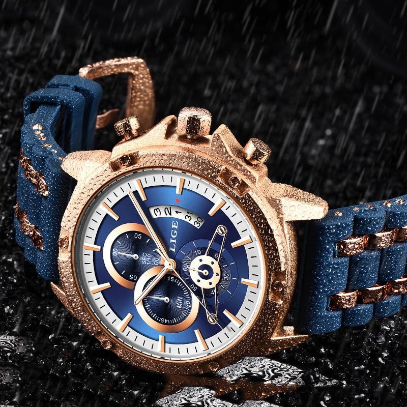 Reloj Hombre LIGE Multifunctional Large Dial Watch Men Sport Mens Watches Top Brand Luxury New Creative Waterproof Quartz Clock