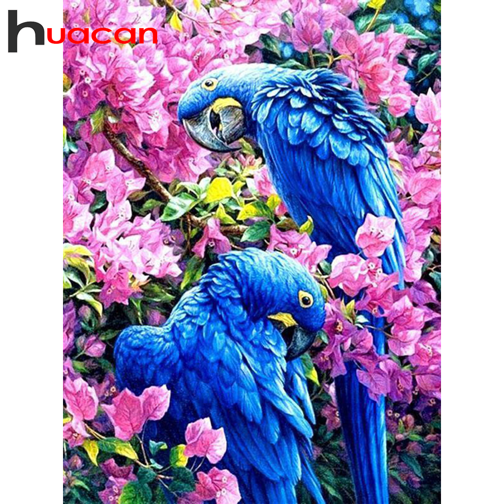 Huacan 5D DIY Diamond Painting Kits Parrot Full Square/Round Diamonds Embroidery Animal Bird Decorations Home Art New Arrival
