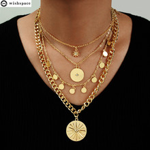 The new popular European and American fashion personality multi-layer alloy pendant necklace jewelry wholesale 2015 new arrival fashion alloy necklace cicada pendant necklace wholesale