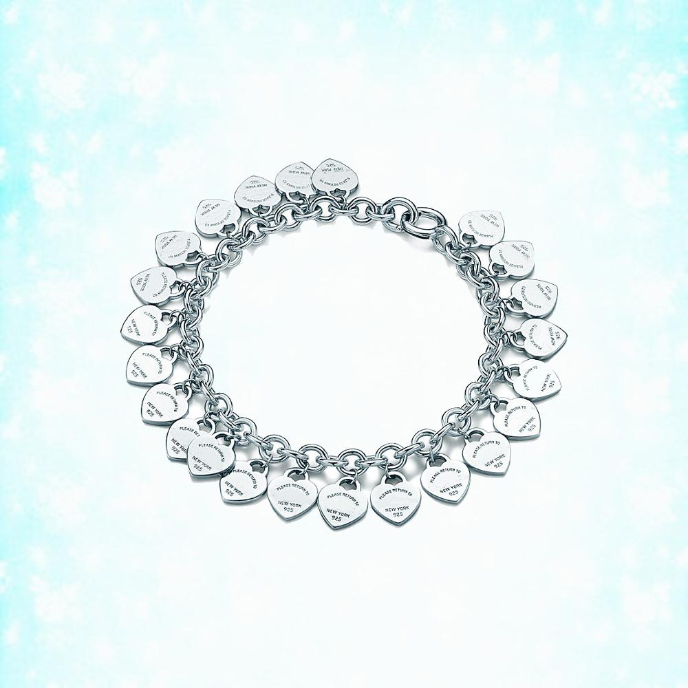 925 sterling silver multi-hearted ladies bracelet jewelry 2019 new European and American style holiday gift