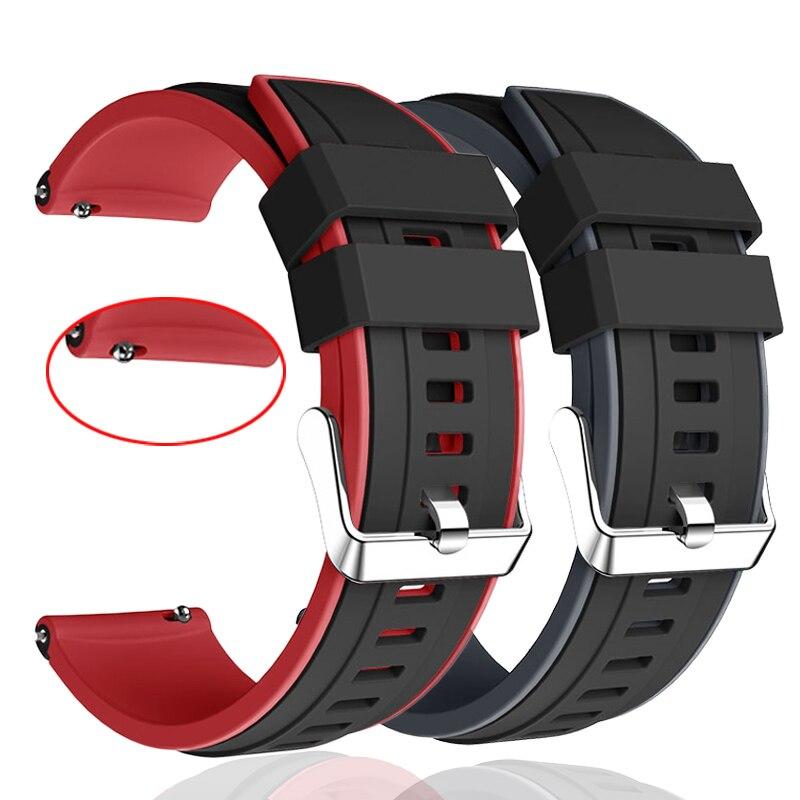 Ремешок для Samsung galaxy watch 3 45 мм, спортивный браслет для наручных часов, двухцветный, 22 мм 46 мм