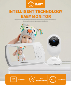 цена на Wireless Video Baby Monitor with Camera Two-way Audio Nanny Baby Security Camera Babyphone Night Vision Temperature Detection