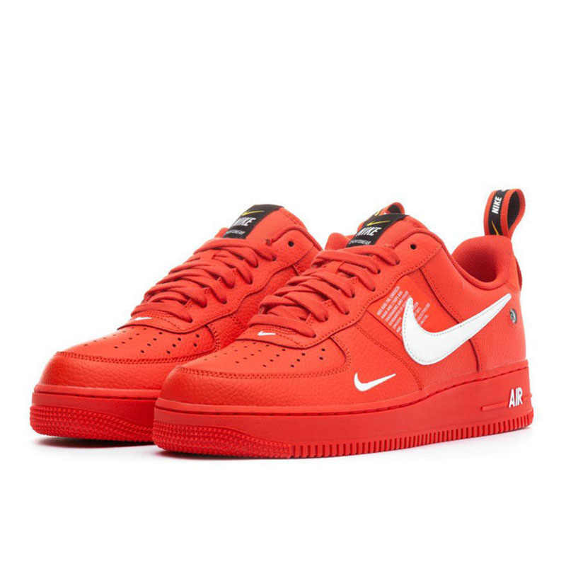 nike air force one rojas hombre