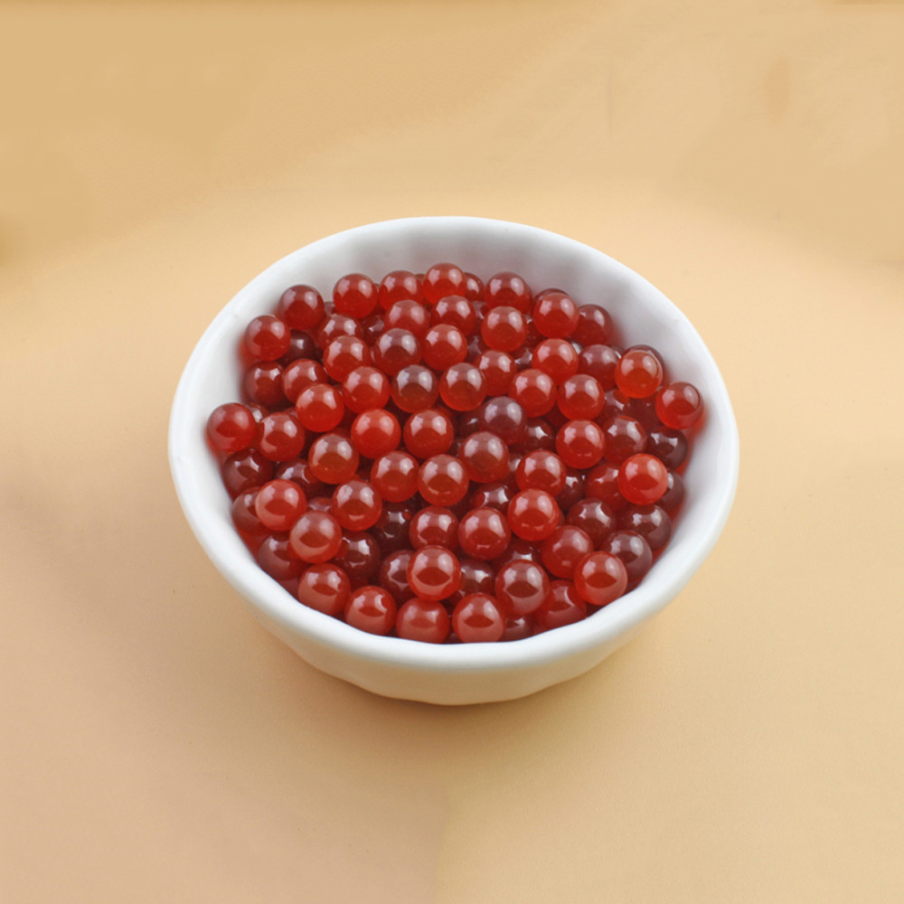 50pcs/Bag OD 6mm Terp Pearls Red Natural Agate Ball For Quartz Banger Glass Bongs 1