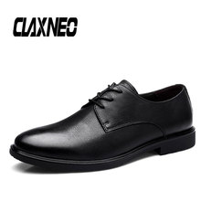 CLAXNEO Man Oxfords Genuine Leather Spring Autumn Male Leather Dress Shoes Formal Shoe Mens Wedding Footwear new pjcmg spring autumn cool serpentine black wine red mens flats dress genuine leather oxfords business mens wedding shoes