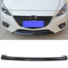 CEYUSOT for new mazda 3 front bumper trim strip 2014 2015 2016 mazda3 M3 decoration grille BUMPER STRIP trim strip accessories(China)