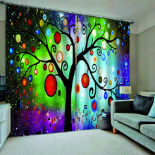 Abstract tree curtains 3D Curtain Printing Blockout Polyester blackout