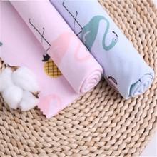 100*205cm cartoon printed cotton cloth cotton knit baby fabric sheets tablecloth hug pillowcase fabric