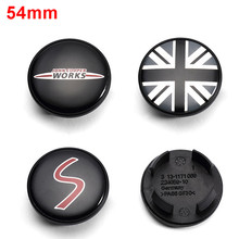 Wheel-Center-Cover Hub-Caps Decoration Works Cooper 54mm for Mini Clubman Coupe R50 R53/R56/R60/..
