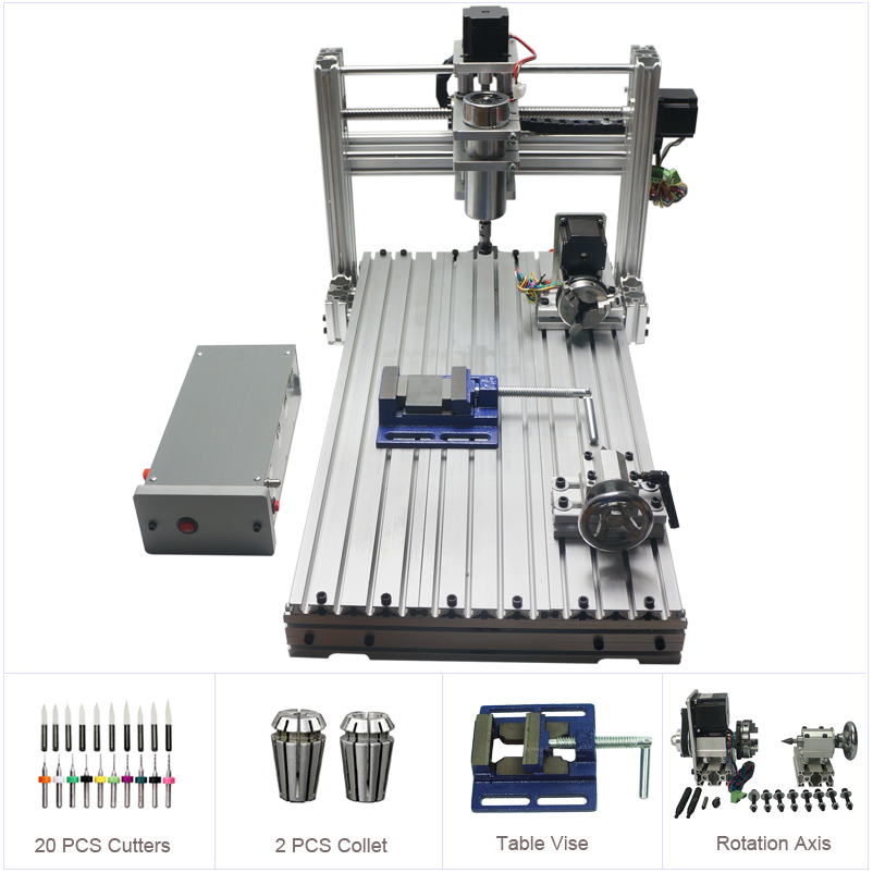 Us 445 5 10 Off Diy Cnc Router 3060 Metal Mini Cnc Milling Machine For Pcb Wood Carving In Wood Routers From Tools On Aliexpress