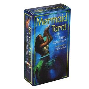 Русалка Таро карточная игра, английская иллюминация комплект Таро палуба настольная карточная плата игры вечерние светильник видения карт...