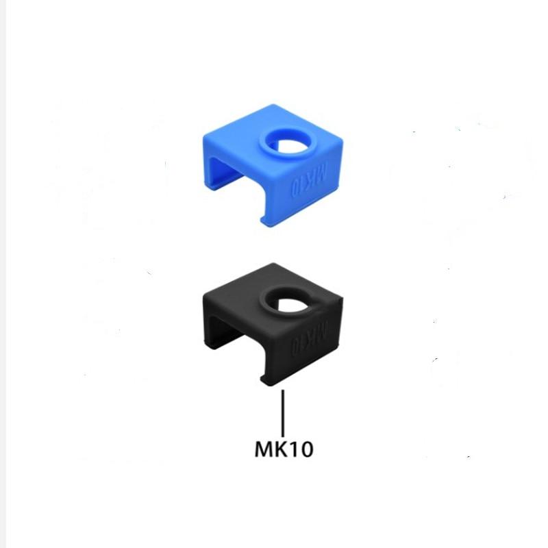 3D Printer Parts MK10 Silicone Sock Fit MK10 Aluminum Block Reprap J-head Hotend Extruder Heated Blcok Heater Block Cover