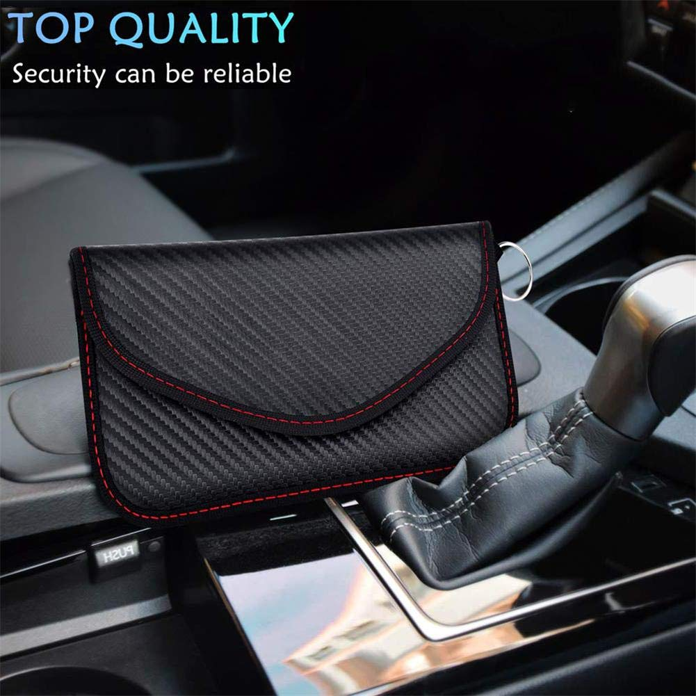 1 Signal Blocking Bag Faraday Bag Shield Cage Pouch Wallet Phone Case For Cell Phone Privacy Protection And Car Key FOB