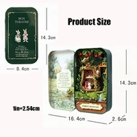 Christmas gifts,3D Wooden Box Theatre Nostalgic Theme Miniature Scene Wooden Miniature Puzzle Toy DIY Doll House Kit with