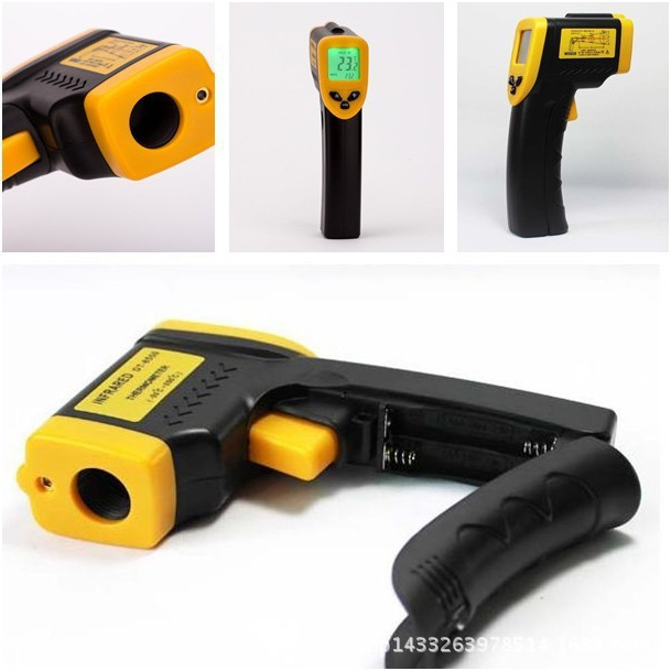 Gaomu High-El Hand-Held Infrared Thermometer Electronic Infrared Temperature Measuring Gun Digital Thermometer Industrial Temper