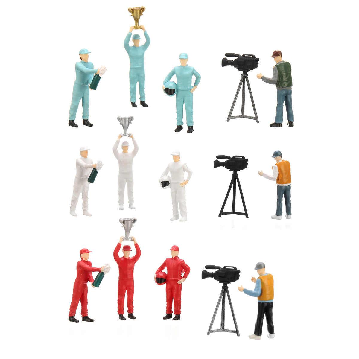 1: 64 Ras Medali Mencari Lapangan Bermain 2 Model Skenario Set untuk Kotak Korek Api untuk Tomys Kit Hadiah untuk Anak-anak