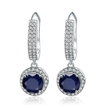 Gem's Ballet 3.68Ct Natural Blue Sapphire Gemstone Drop Earrings 925 Sterling Silver for Women Wedding Engagement Earrings