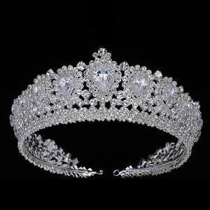 Image 1 - Hadiyana New Bling Wedding Crown Diadem Tiara With Zirconia Crystal Elegant Woman Tiaras and Crowns For Pageant Party BC3232