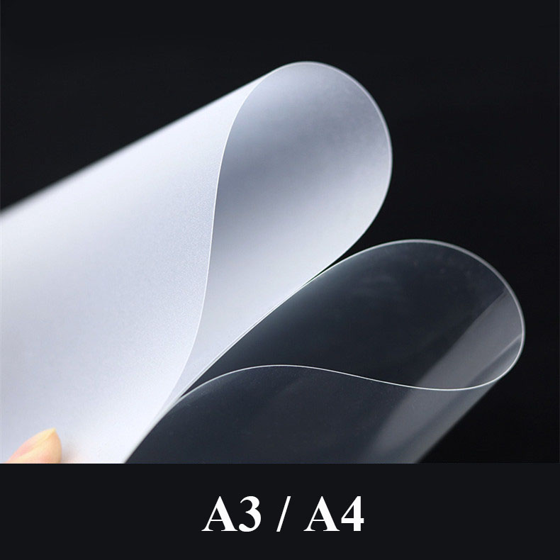 A4 Binding Film Plastic Cover PVC Plastic Loose-leaf Bookbinding Cover Transparent Plastic Sheet Book Accessories Book Cover