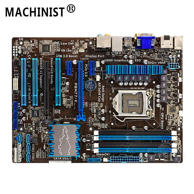 For ASUS P8H77-V Desktop motherboard MB Intel H77 LGA 1155 ATX DDR3 32GB SATA3.0 USB3.0 100% fully Tested Free shipping 1