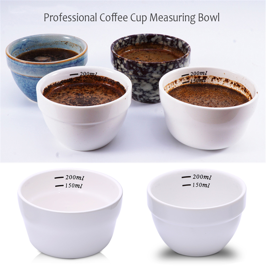 Espresso Coffee Cupping Cup 150-200ml Ceramics Measuring Bowl Coffee Competition Baking/Dry Ingredients/Liquid Accessories