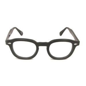 Image 3 - MenS Vintage עגול מסגרת אופטית מותג עיצוב קוריאה משקפיים לגברים נשים אצטט Eyewears קטן בינוני Gafas Miopia Hombre