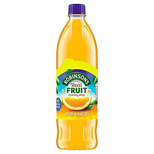 Robinsons Orange Sans Sucre Ajouté 1L (pack De 6x 1ltr)