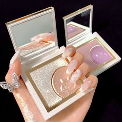 LAIKOU Smiley HighlighterMakeup Glow Face Contour Shimmer Powder Highlighter Glitter Palette Highlight Brighten Powder Cosmetic
