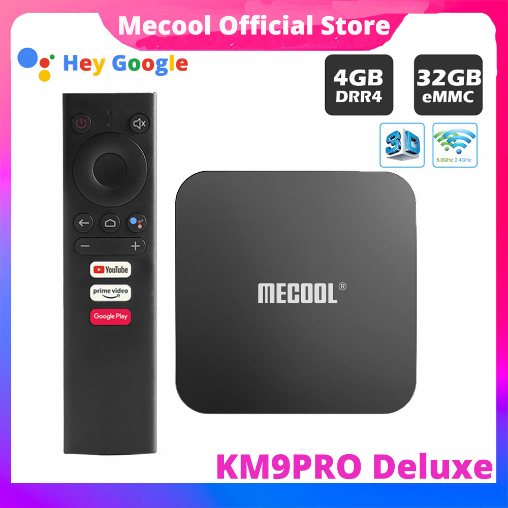 ТВ-приставка MECOOL KM9 pro Android 10,0 4G RAM 32G ROM 2,4G/5G WiFi BT 4,1 Amlogic S905X2 Android 9,0 ТВ-приставка медиаплеер