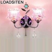 Parede candelabro De espejo Aplik Lamba  Mural decorativo  lámpara De Pared para el hogar  lámpara De Pared Interior De cristal  Luz De dormitorio