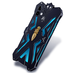 Image 4 - Luxury Armor Metal Aluminum CNC technology manufacturing Cover For iphone 12 PRO MAX mini case Bullet Bracket Phone shell